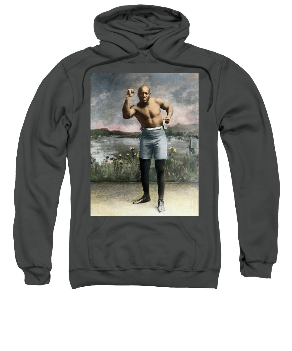 1910 Sweatshirt featuring the drawing Jack Johnson, 1878-1946 by Granger