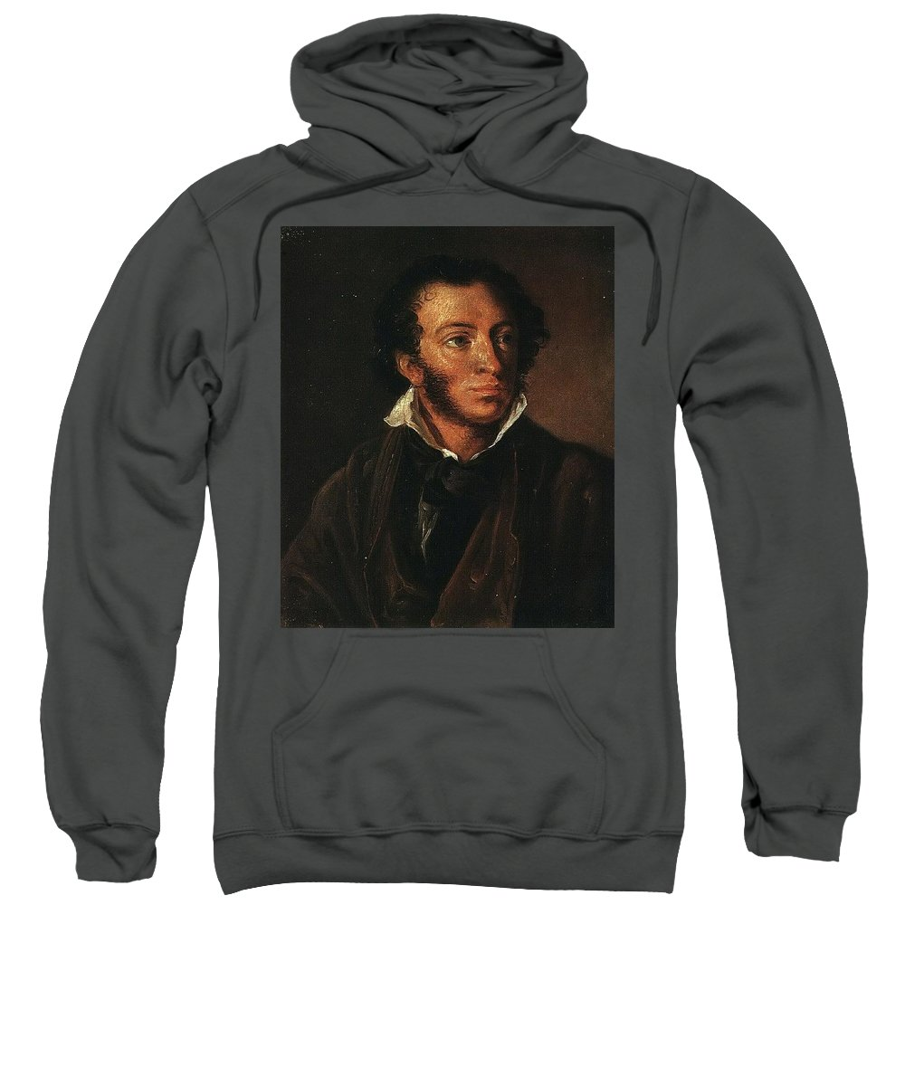 Person Sweatshirt featuring the digital art   1827 Vasily Tropinin by Eloisa Mannion