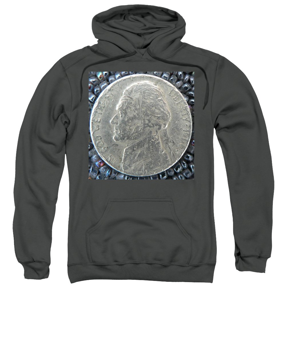 Sweatshirt featuring the photograph 1900 Jefferson Earthquake Obverse by George Woods