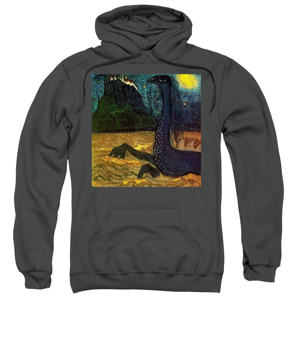 Clothing Sweatshirt featuring the digital art  1907 Vasily Kandinsky by Eloisa Mannion