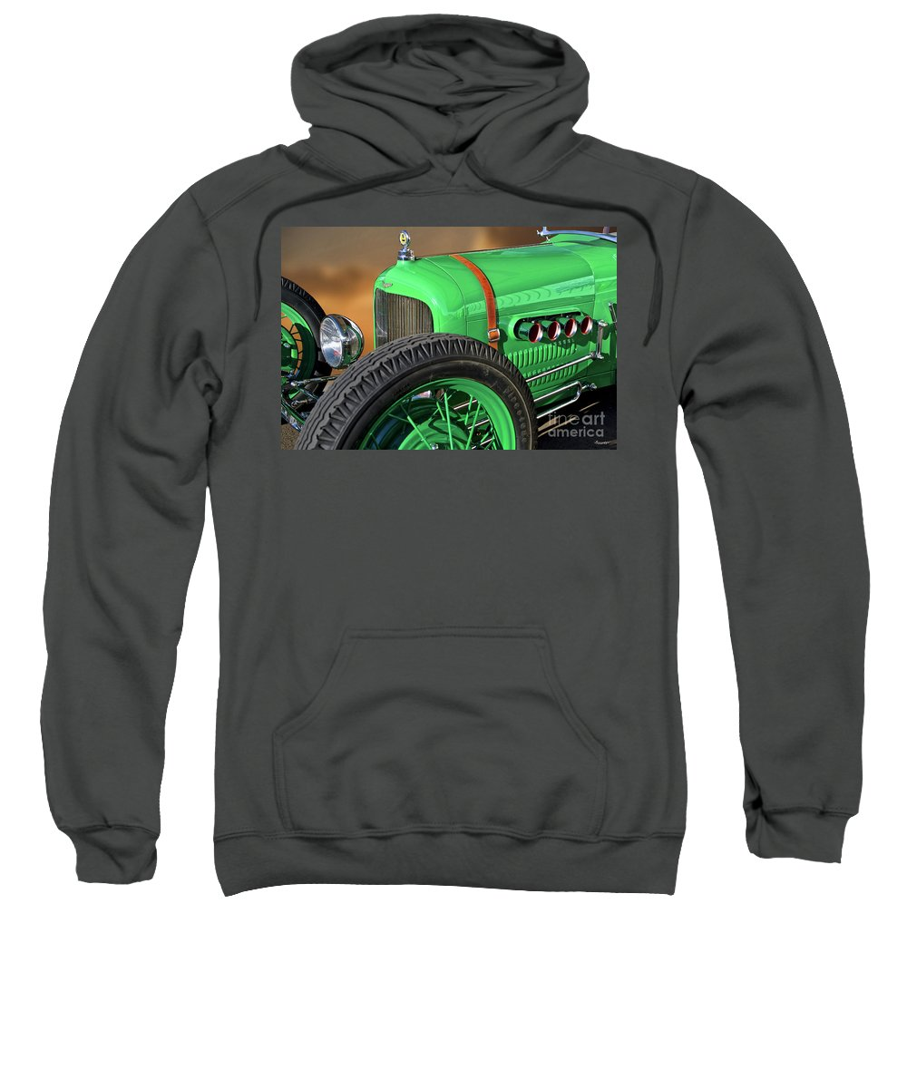 Auto Sweatshirt featuring the photograph 1926 Ford Model T 'dry Lakes' Roadster V by Dave Koontz