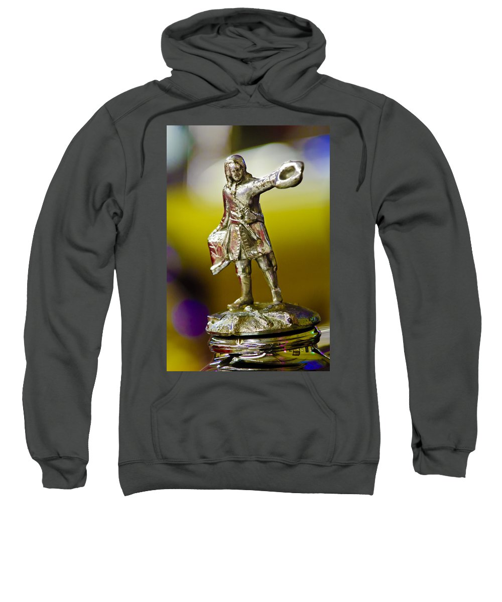 1930 Cadillac Lasalle Sweatshirt featuring the photograph 1930 Cadillac Lasalle Hood Ornament by Jill Reger