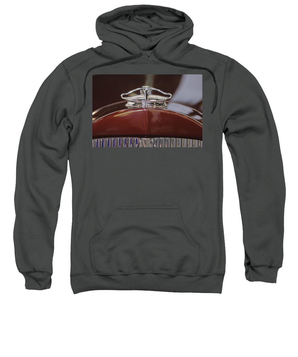 1931 Packard 840 Roadster Sweatshirt featuring the photograph 1931 Packard 840 Roadster Hood Ornament by Jill Reger
