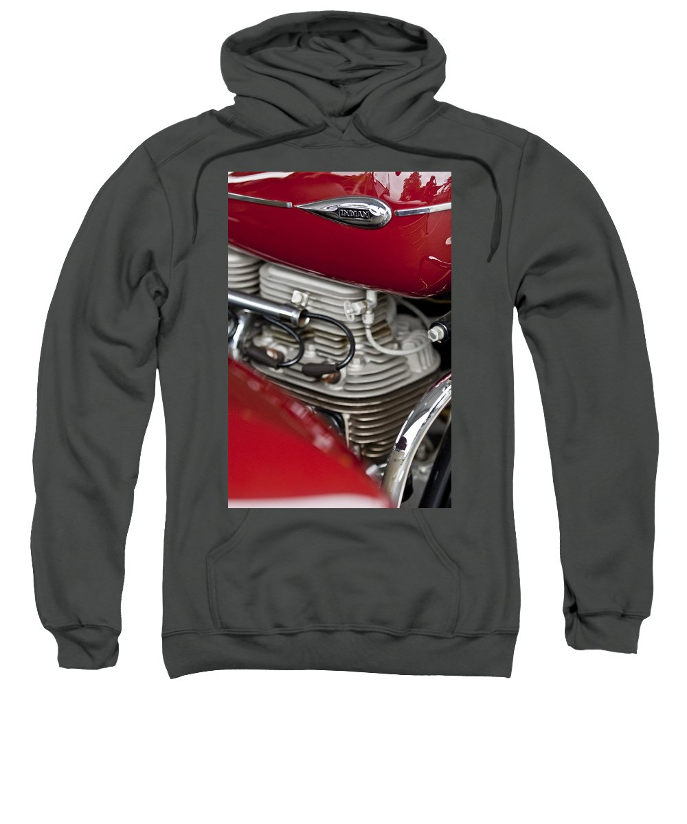1941 Indian Sweatshirt featuring the photograph 1941 Indian 4 Cyl Motorcycle by Jill Reger