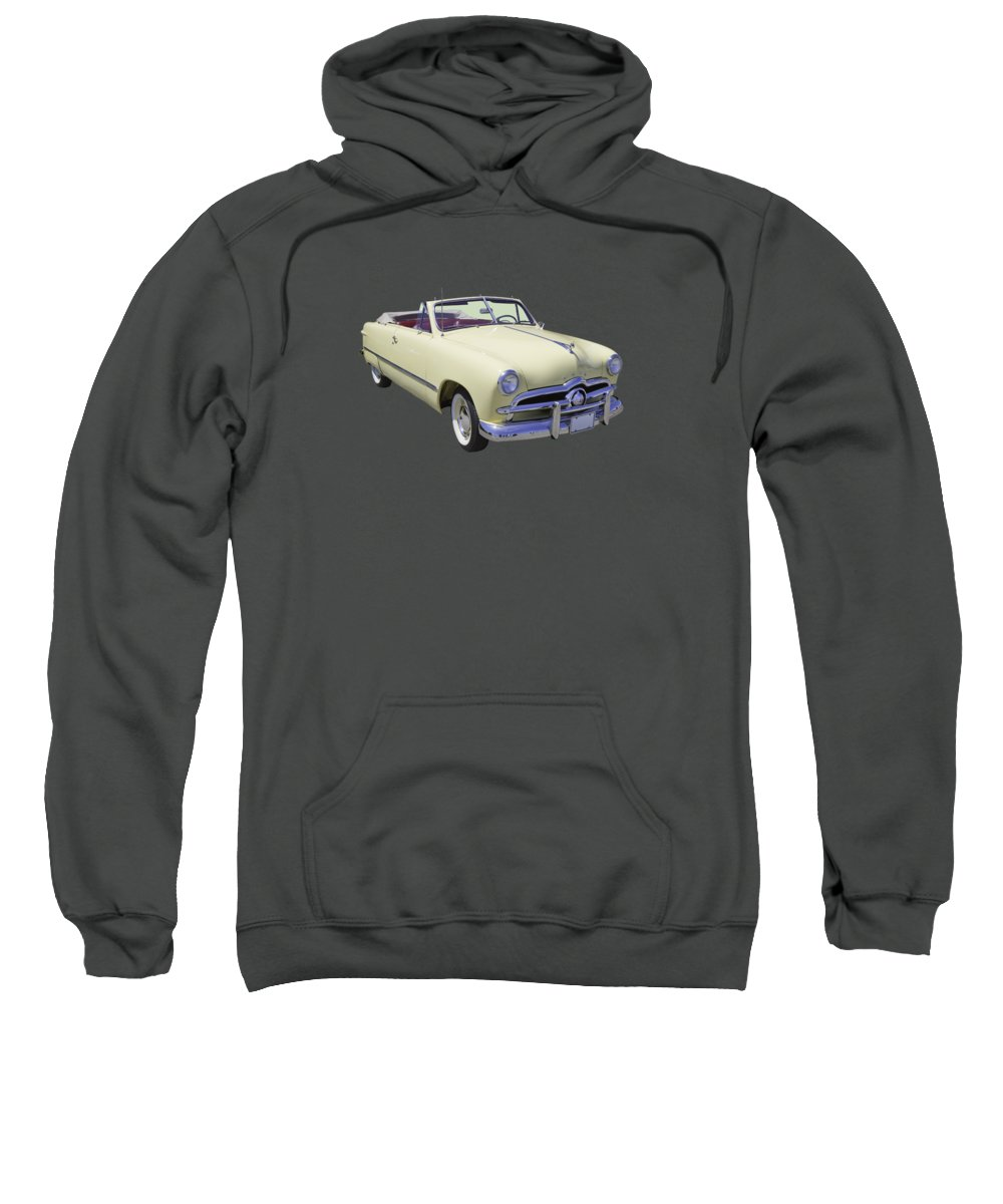 Custom Sweatshirt featuring the photograph 1949 Ford Custom Deluxe Convertible by Keith Webber Jr