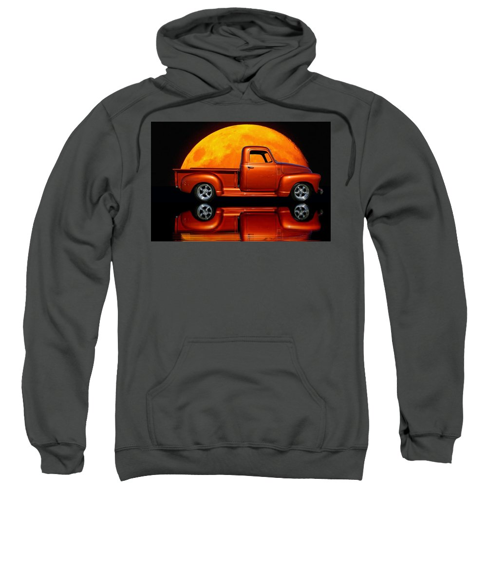 Reflection Sweatshirt featuring the photograph 1950 Chevy Pickup Poster by Alan Hutchins