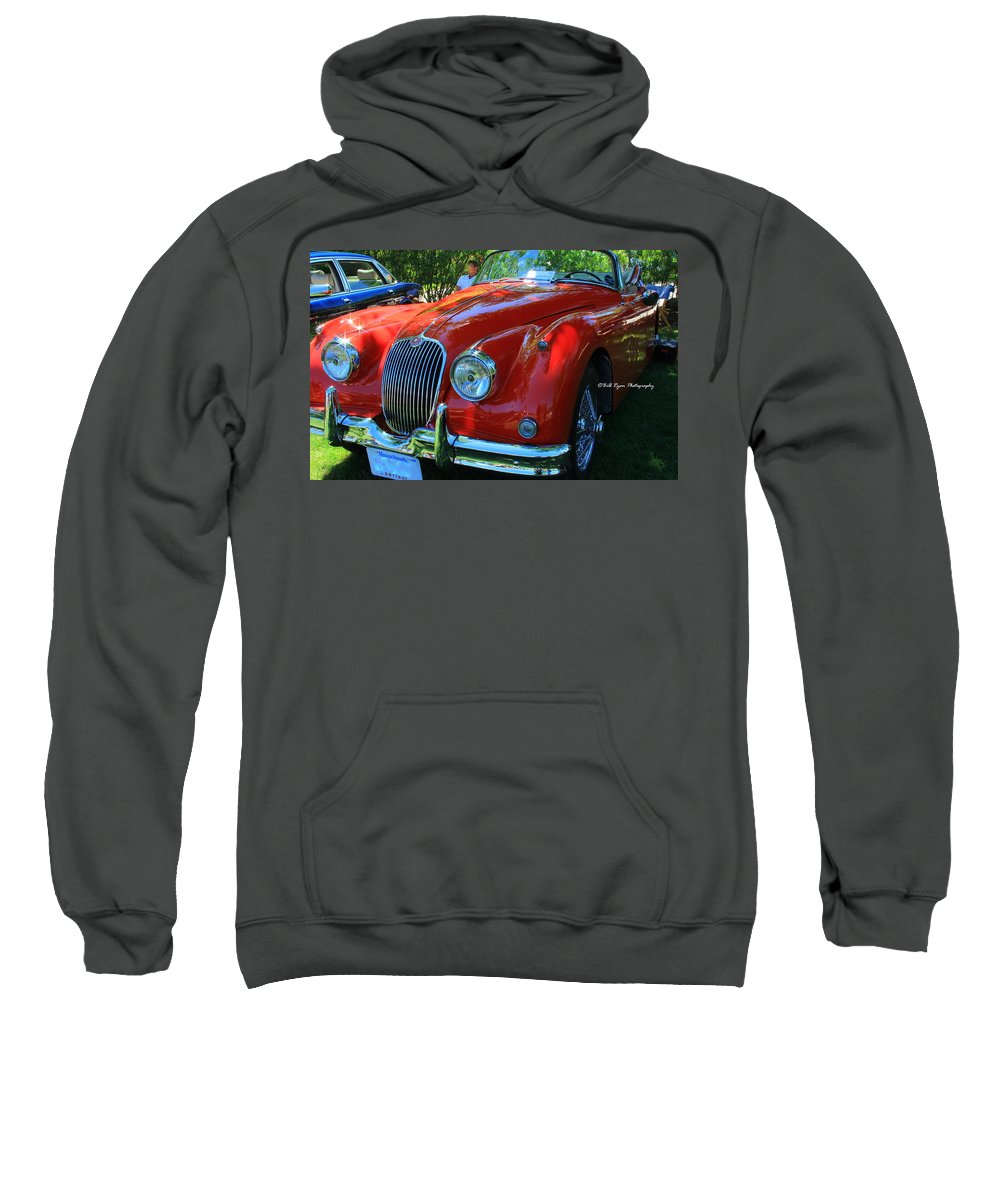 Jaguar Sweatshirt featuring the photograph 1953 Xk 150 Jaguar by Bill Ryan