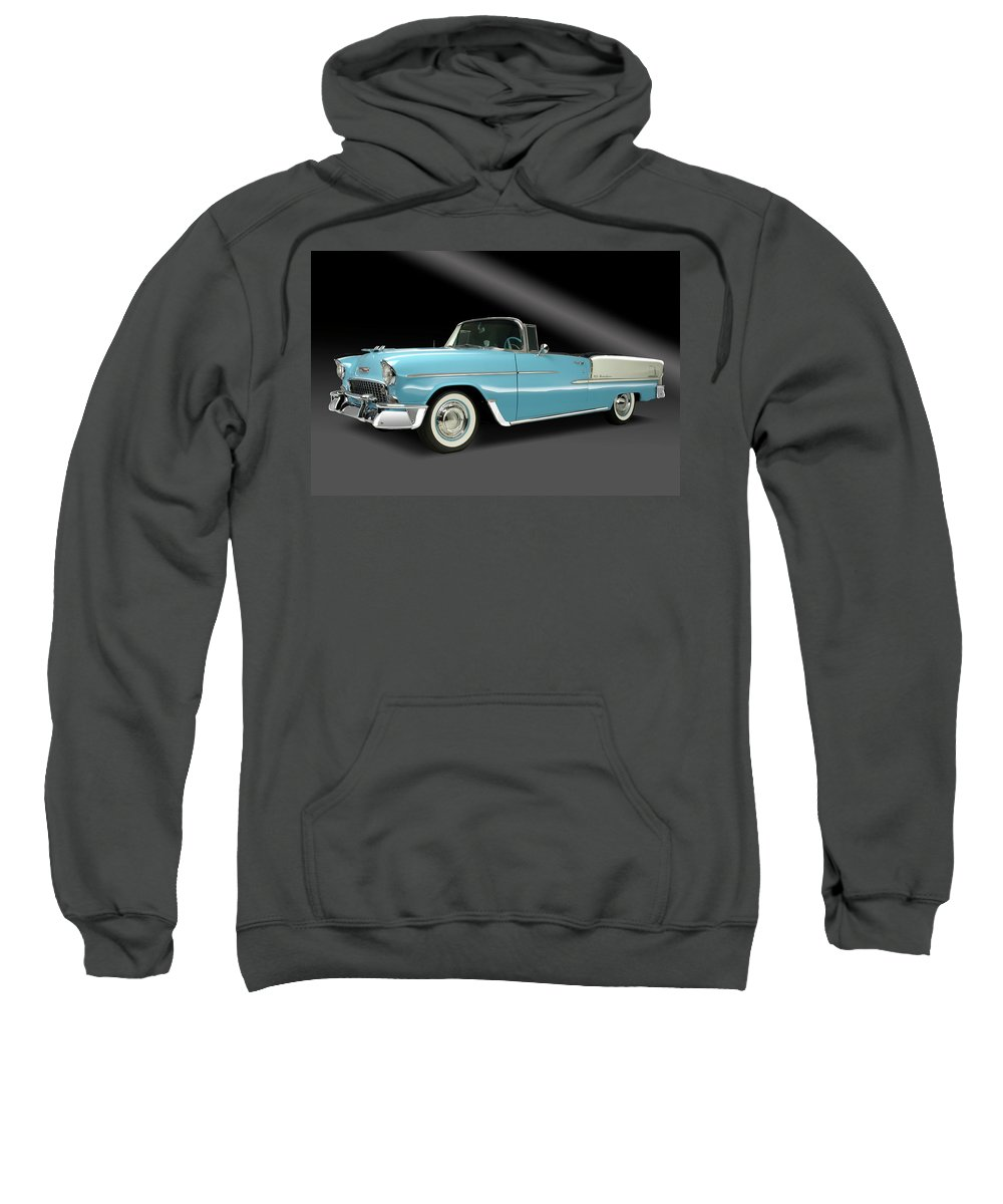Chevy Sweatshirt featuring the photograph 1955 Chevy Bel Air by Dennis Fugnetti