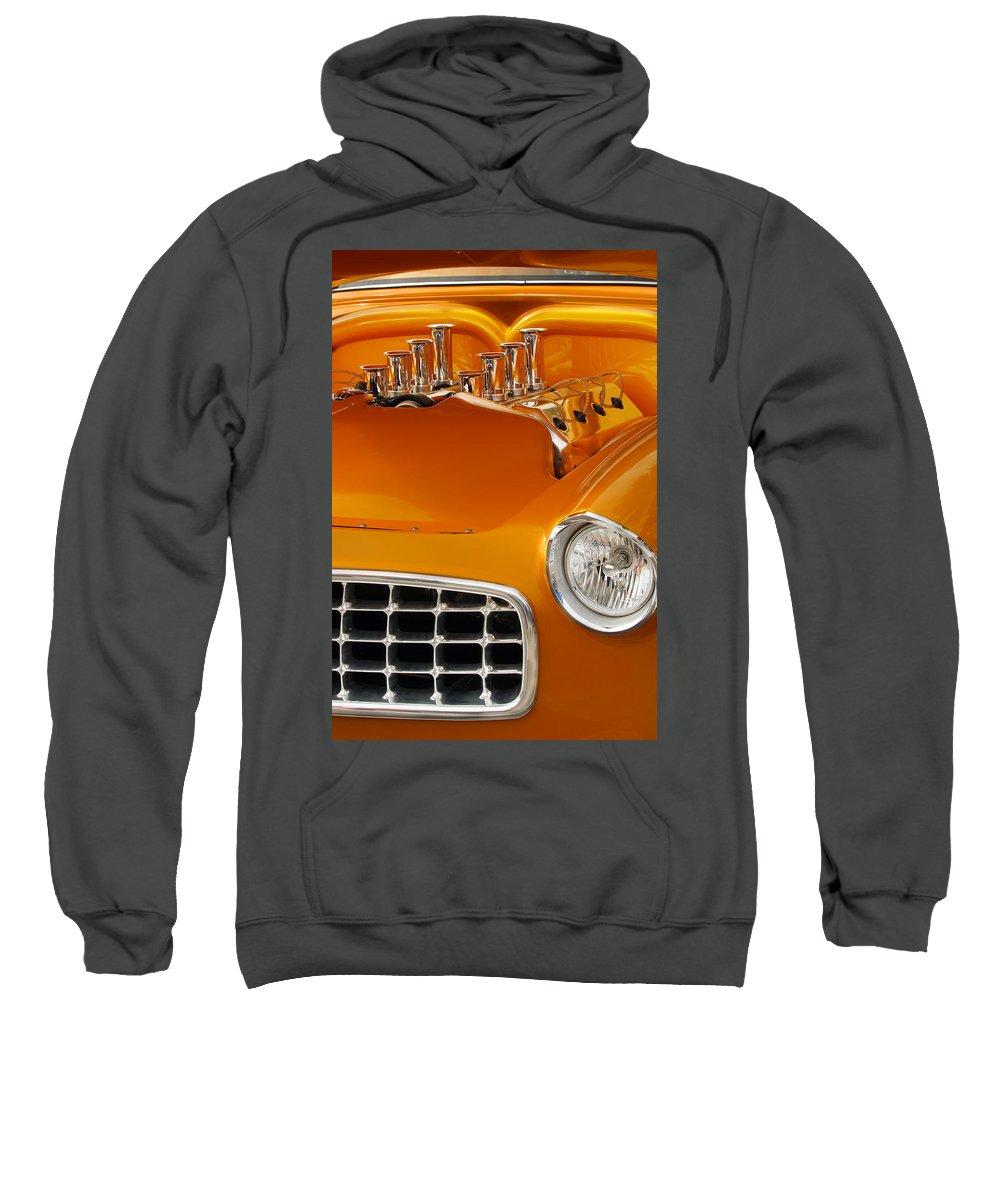 Transportation Sweatshirt featuring the photograph 1956 Chrysler Custom 2 Door Sport Wagon by Jill Reger