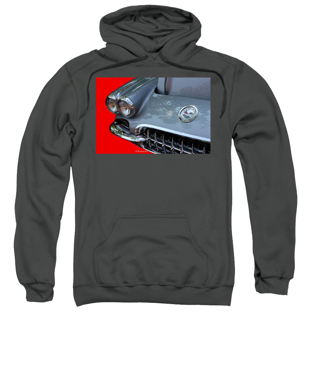 1960 Sweatshirt featuring the photograph 1960 Corvette by Betty Northcutt