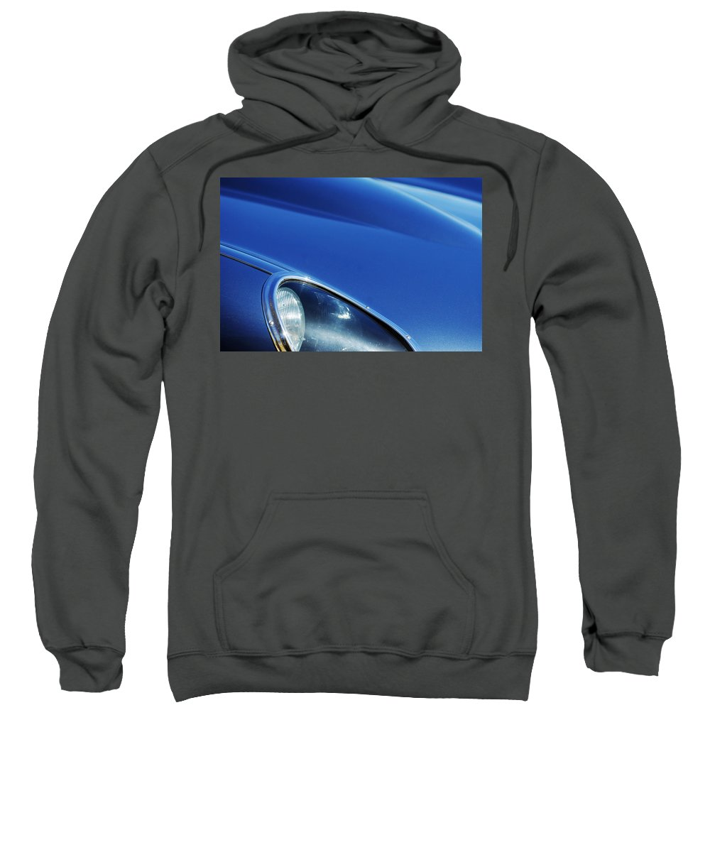 Transportation Sweatshirt featuring the photograph 1963 Jaguar Xke Roadster Headlight by Jill Reger