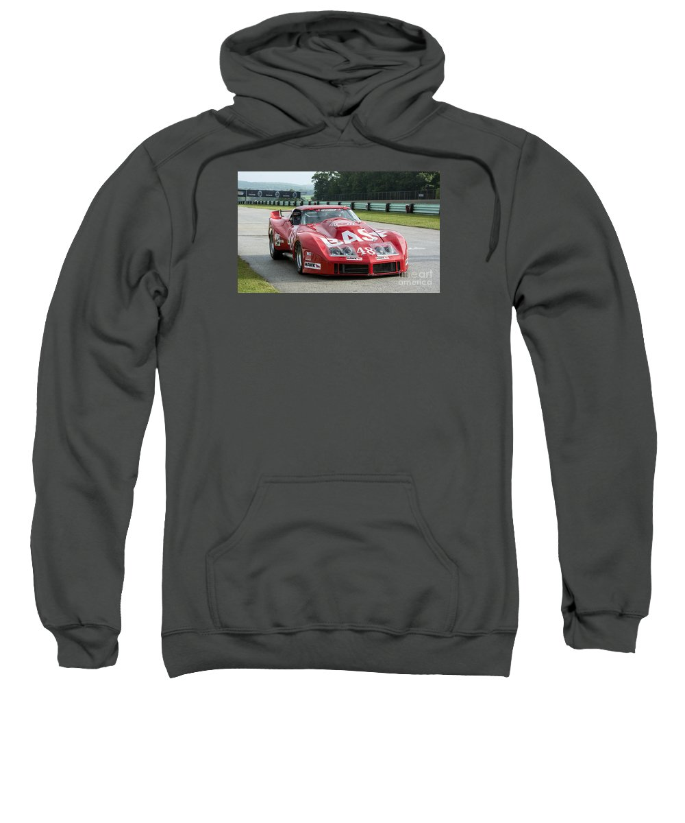 Automobile Sweatshirt featuring the photograph 1972 Chevy Corvette At Road America by Tad Gage