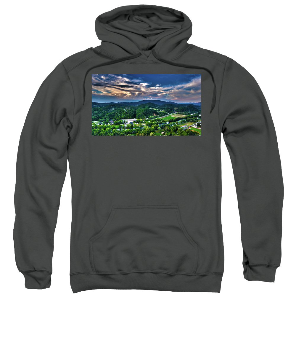 Landscape Sweatshirt featuring the photograph 1st Image Of Elizabethton by Maury Osbourne