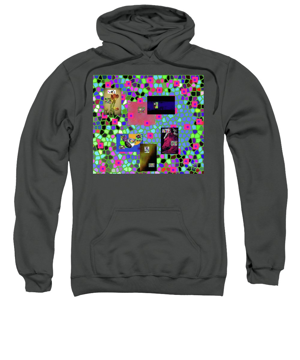 Walter Paul Bebirian Sweatshirt featuring the digital art 2-9-2016babcdefghijklmnopqrtuvwxyzabcdefg by Walter Paul Bebirian