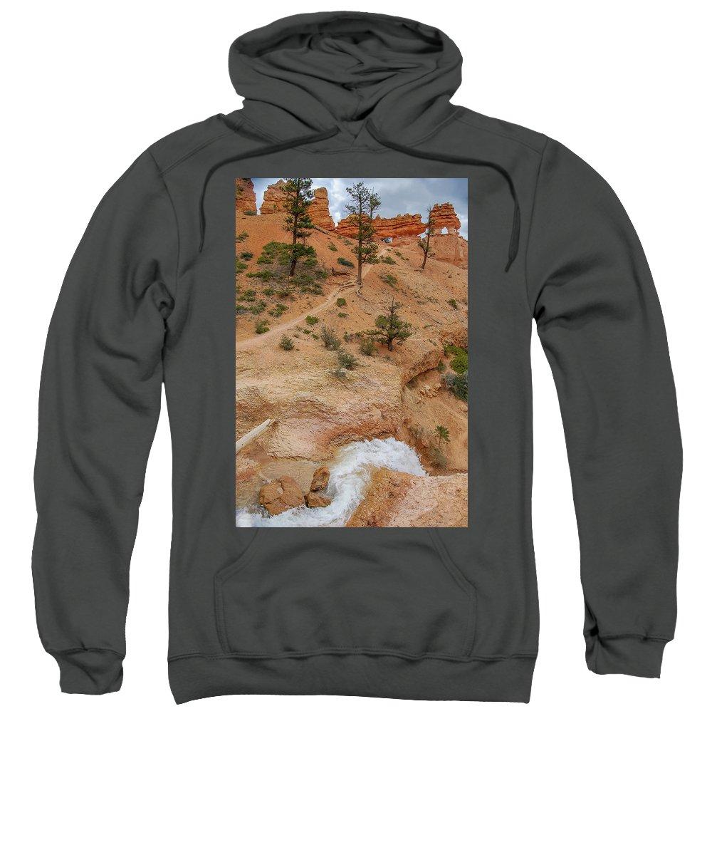 Bryce Canyon Sweatshirt featuring the photograph A River Runs Through It  by Bob Cuthbert