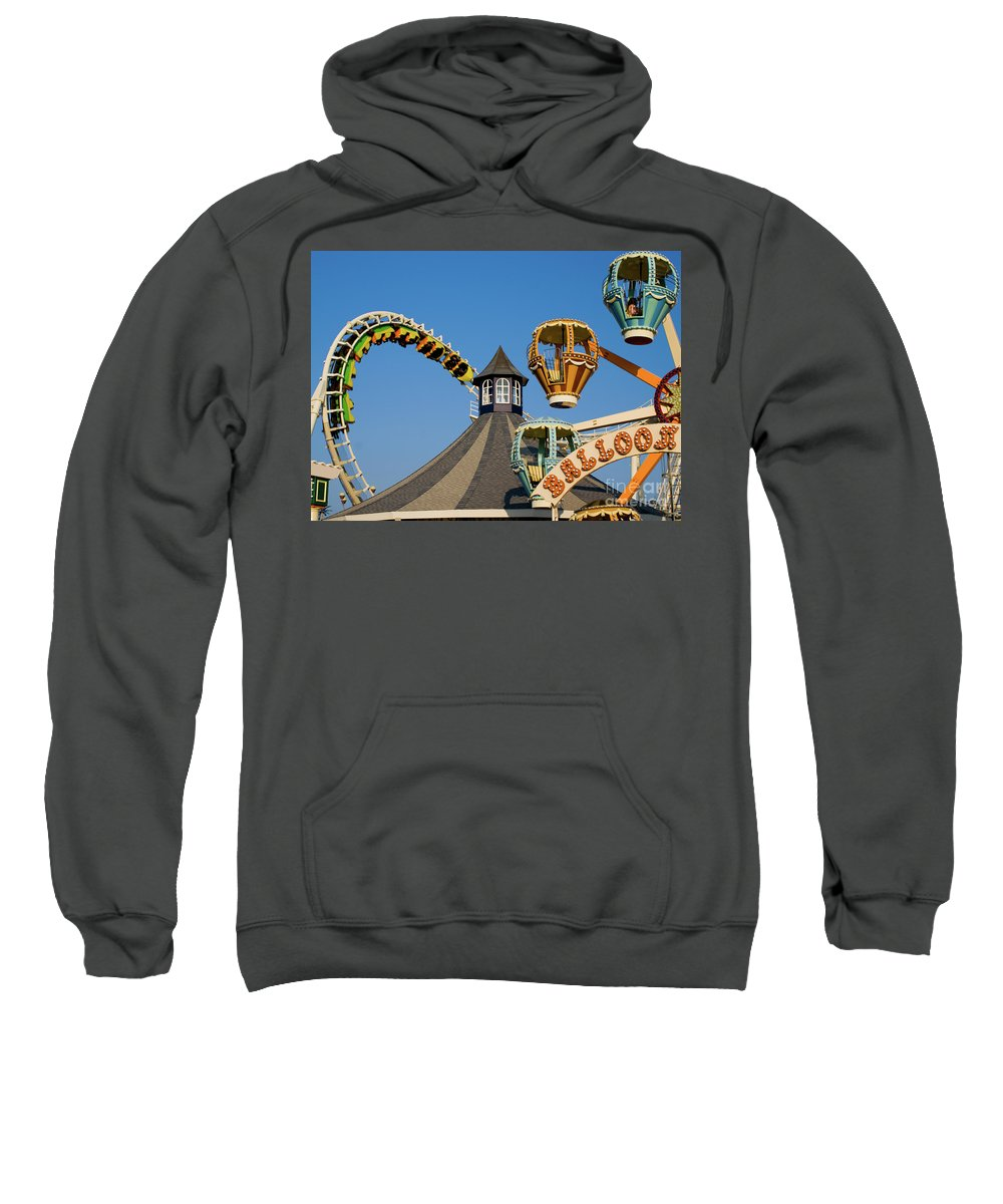 Wildwood Sweatshirt featuring the photograph Amusement Park by Anthony Totah