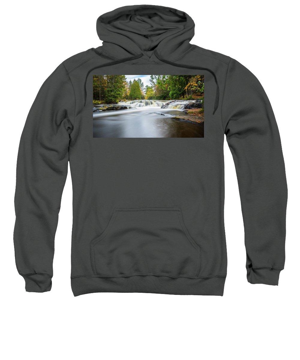 Landscape Sweatshirt featuring the photograph Bond Falls by Teresa Havens