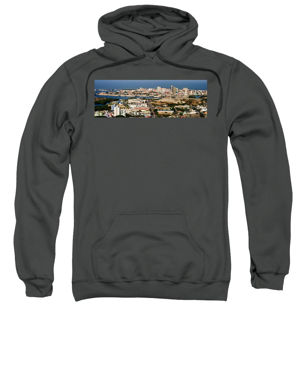 Cartegena Sweatshirt featuring the photograph Cartegena Colombia by Thomas Marchessault