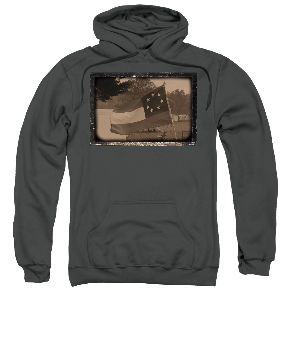 Confederate Camp Sweatshirt featuring the photograph Confederate Camp by Tommy Anderson