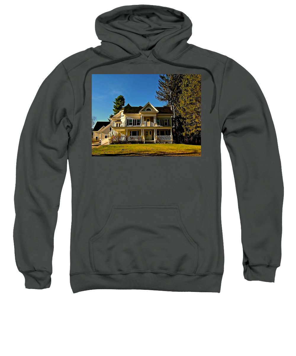 Mansion Sweatshirt featuring the photograph Country Estate by Elizabeth Tillar