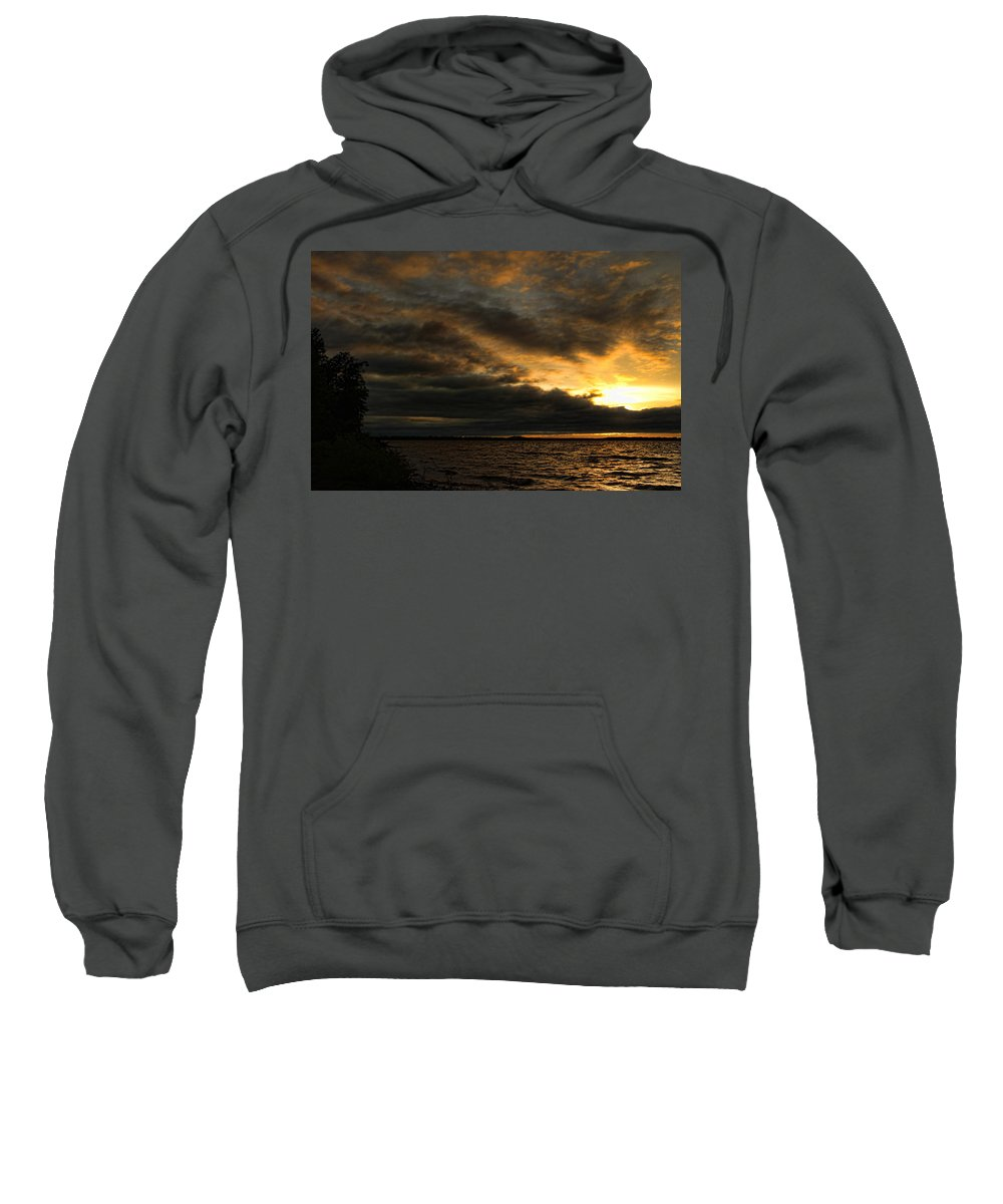 Sunset Sweatshirt featuring the photograph Darkfall by Carolyn Fletcher