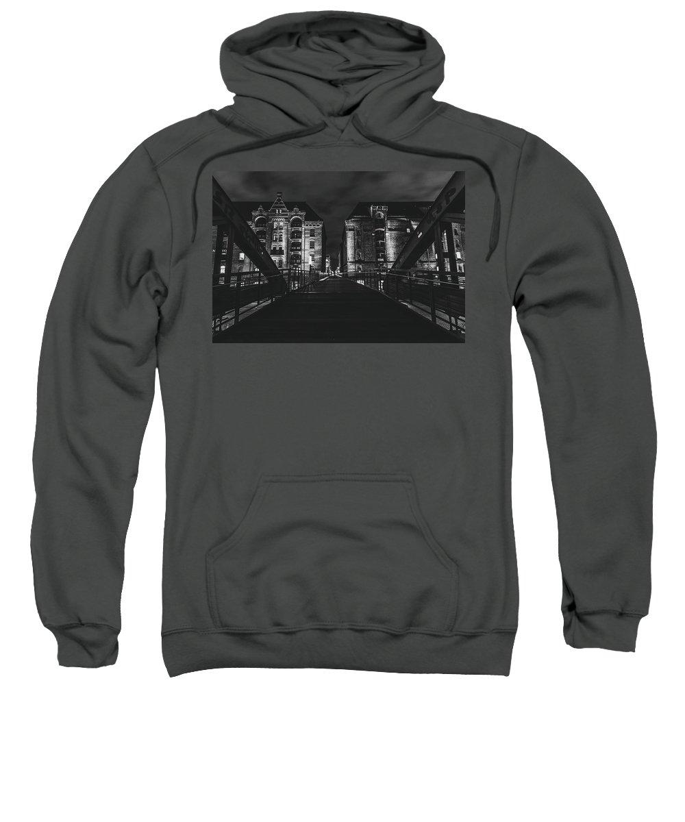 Hamburg Sweatshirt featuring the photograph Evening In Hamburg by Pixabay