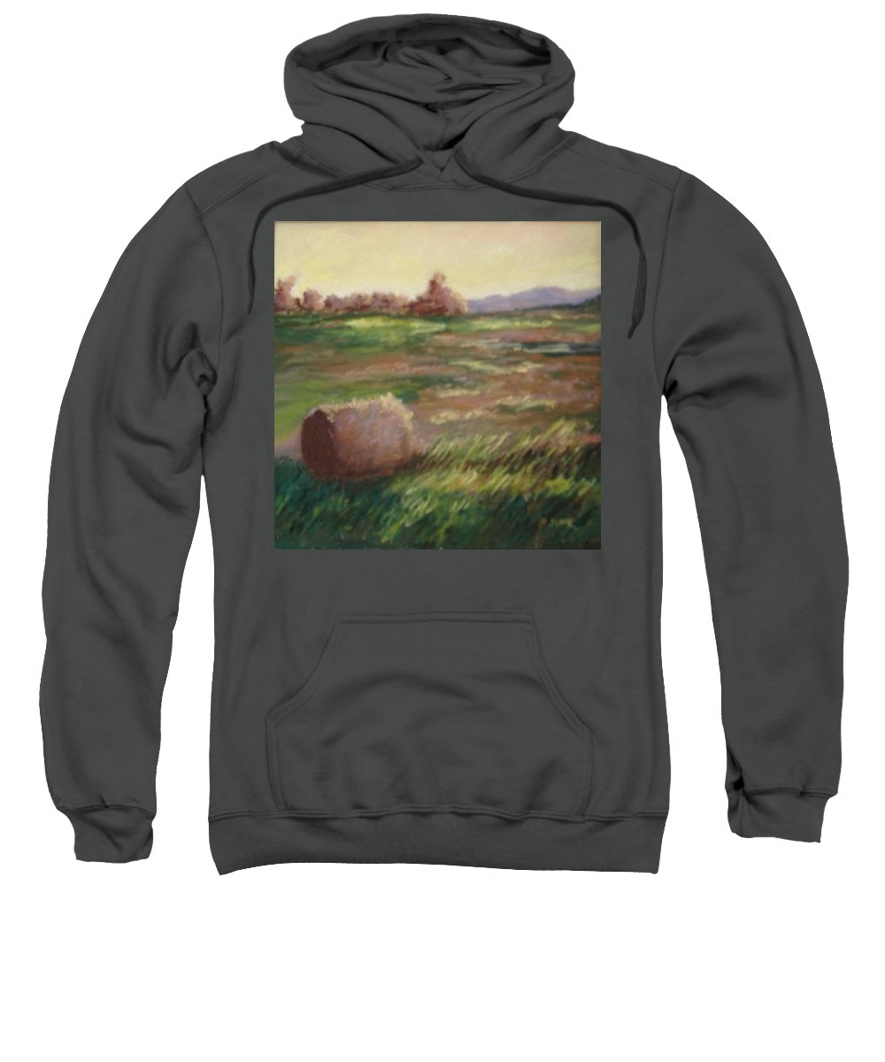 Sweatshirt featuring the pastel Hey There by Pat Snook