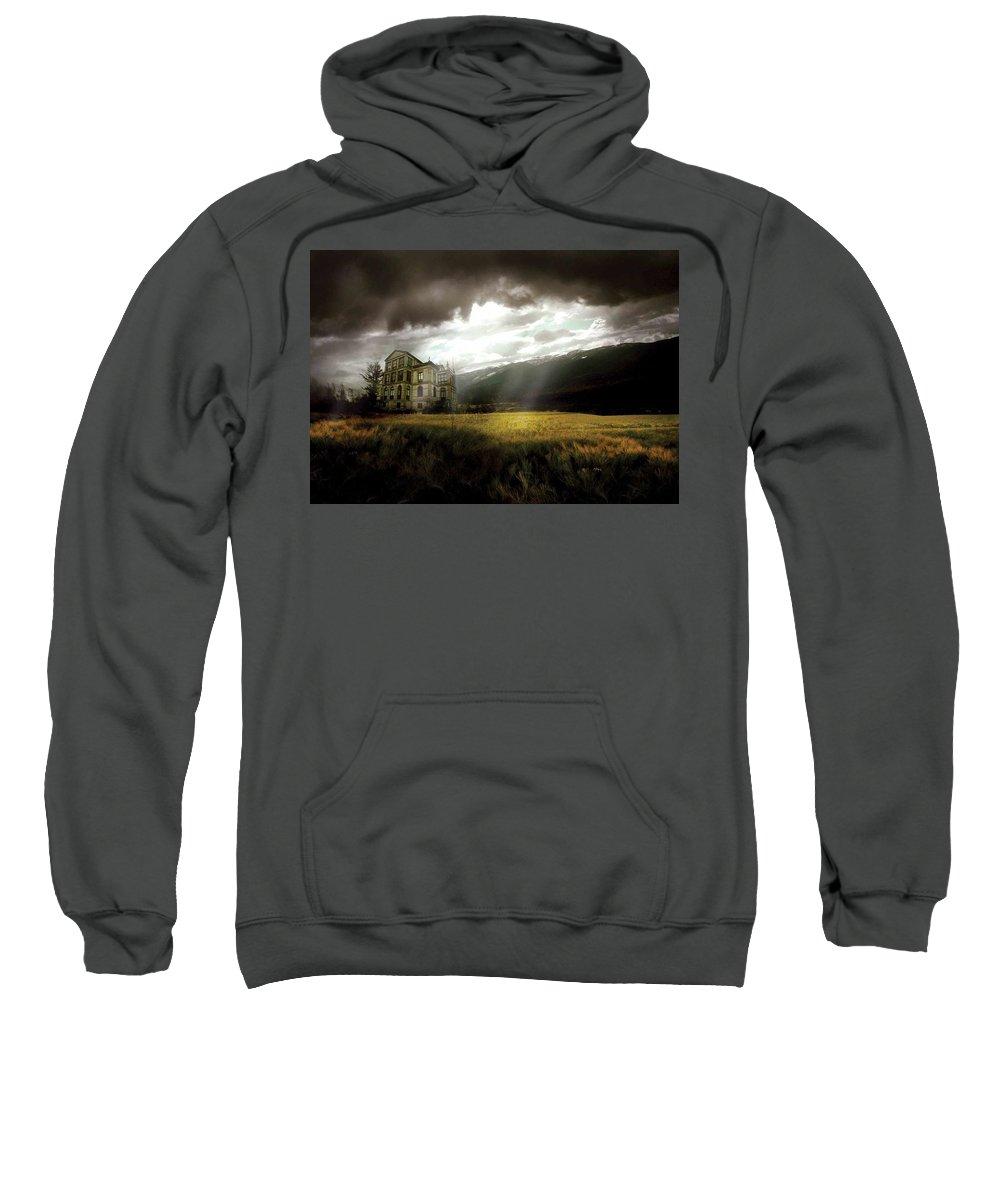 House Sweatshirt featuring the digital art House by Bert Mailer