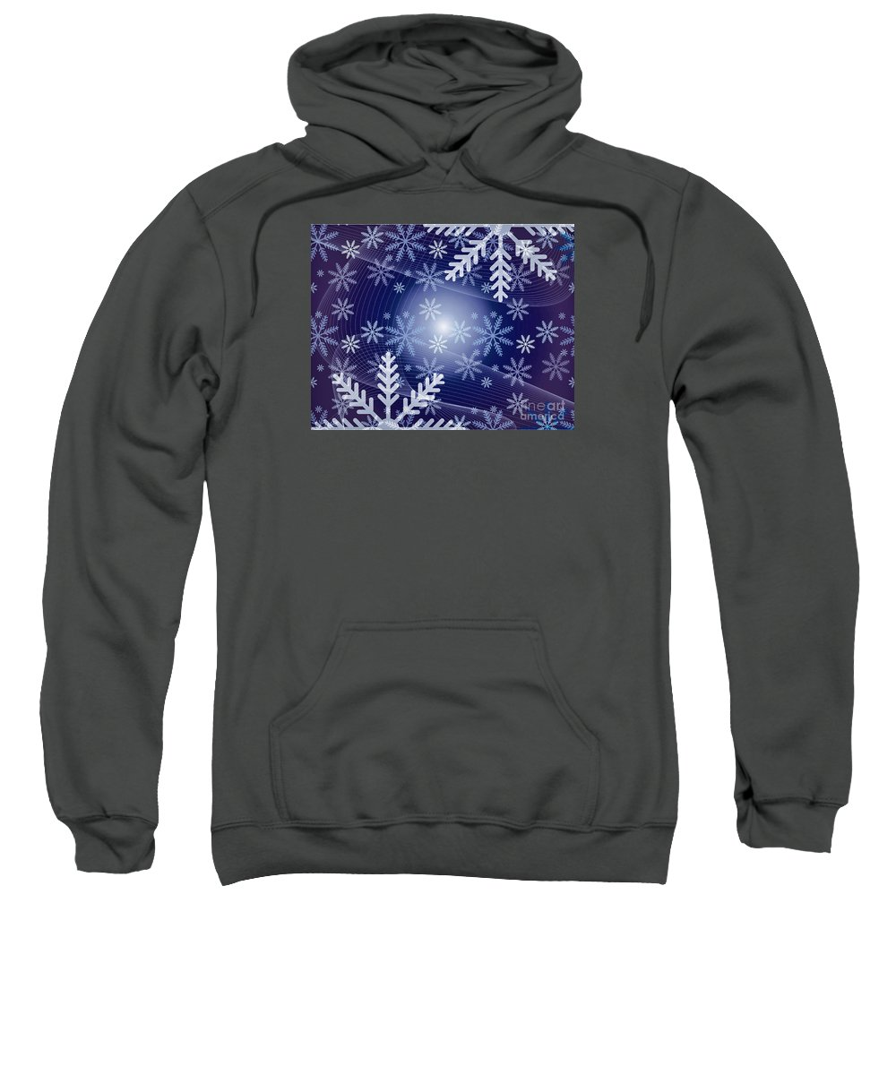 Snow Sweatshirt featuring the photograph Snowflake by Sebastien Coell