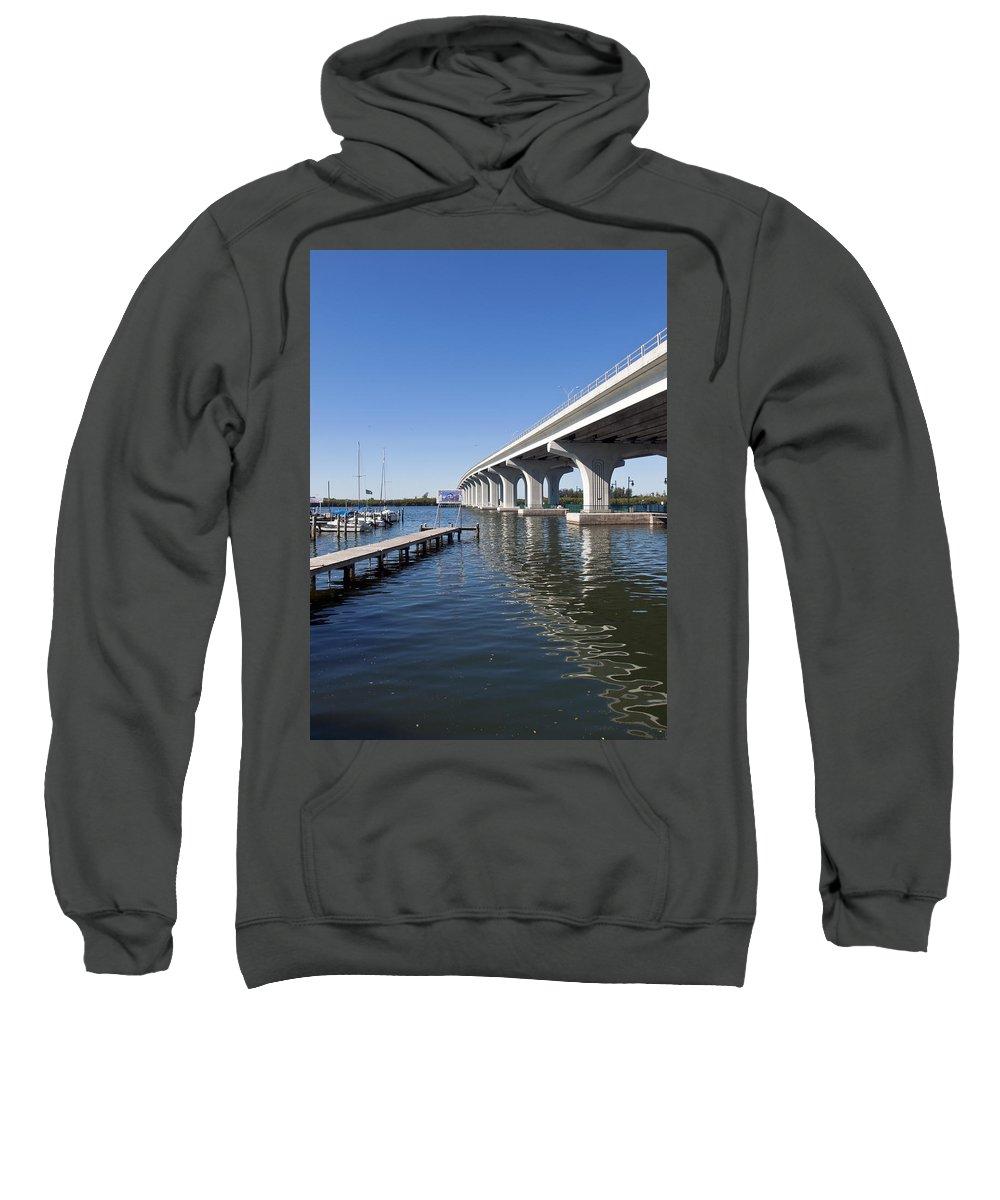 Florida Sweatshirt featuring the photograph Indian River Lagoon At Vero Beach In Florida by Allan Hughes