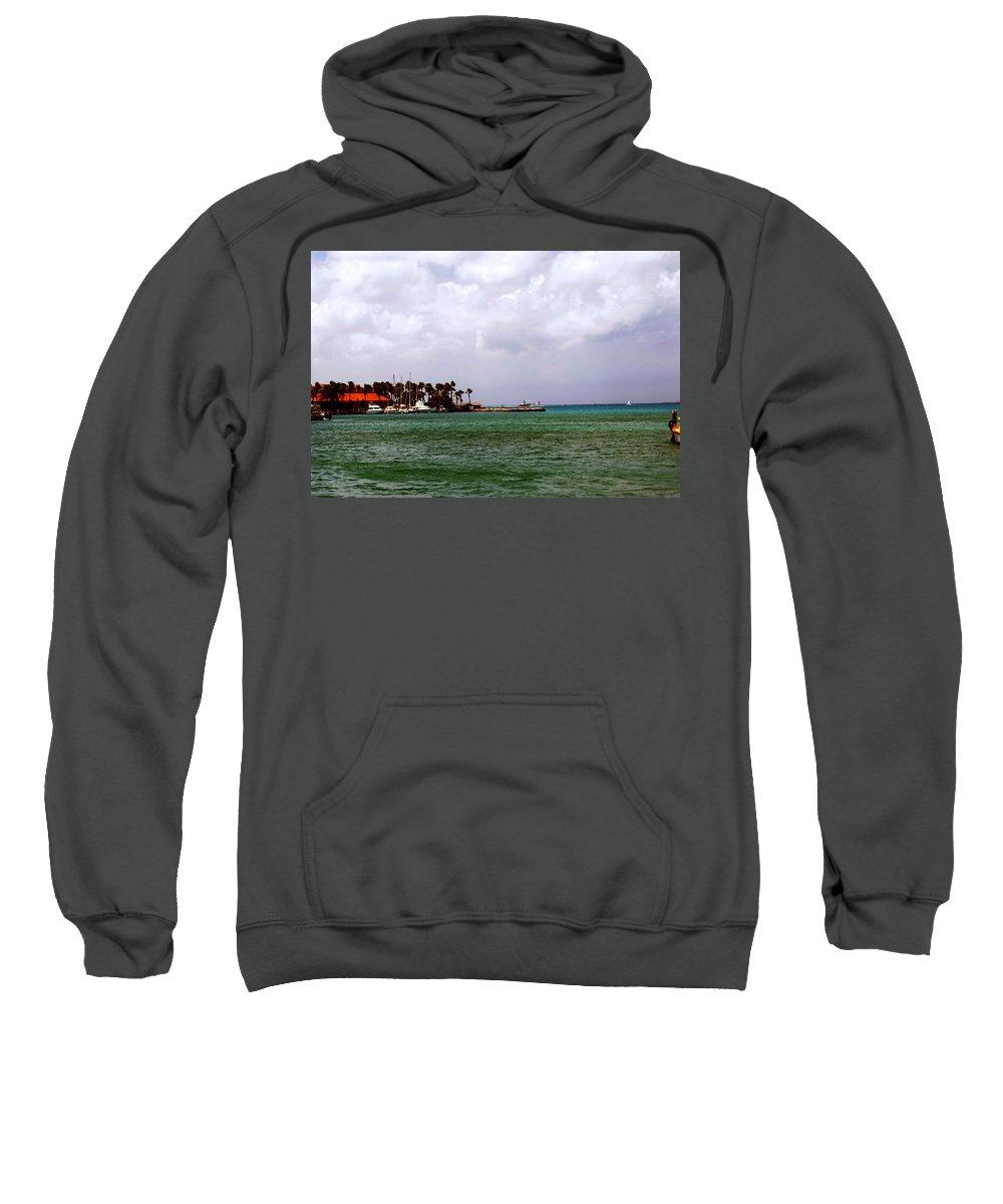 Harbor Sweatshirt featuring the photograph Island Harbor by Gary Wonning