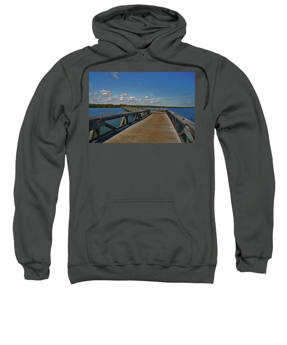 Sweatshirt featuring the photograph 2- J.d. Macarthur State Park by Joseph Keane