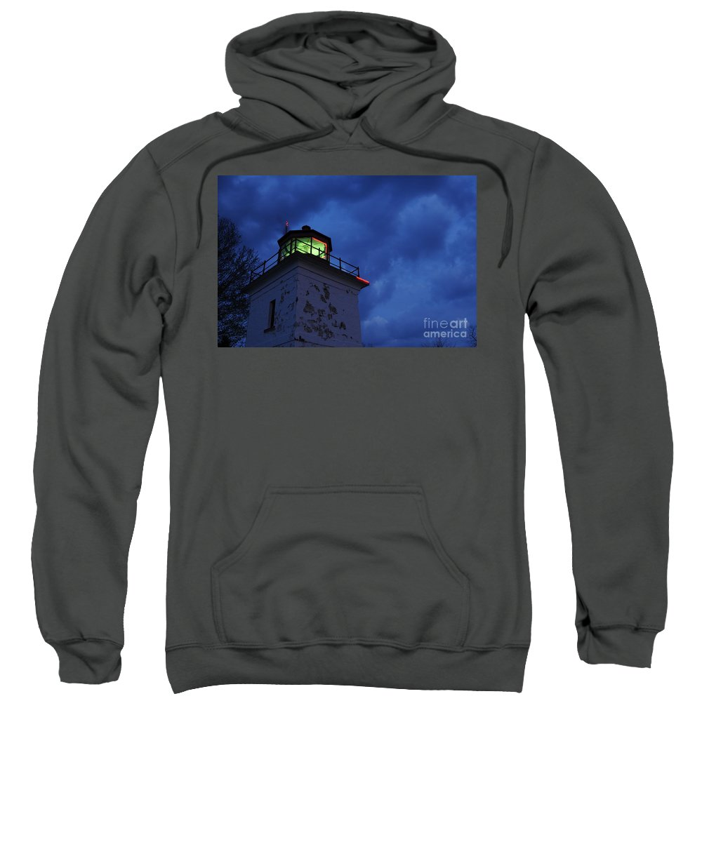 Beacon Sweatshirt featuring the photograph Lighthouse At Night by Joe Ng