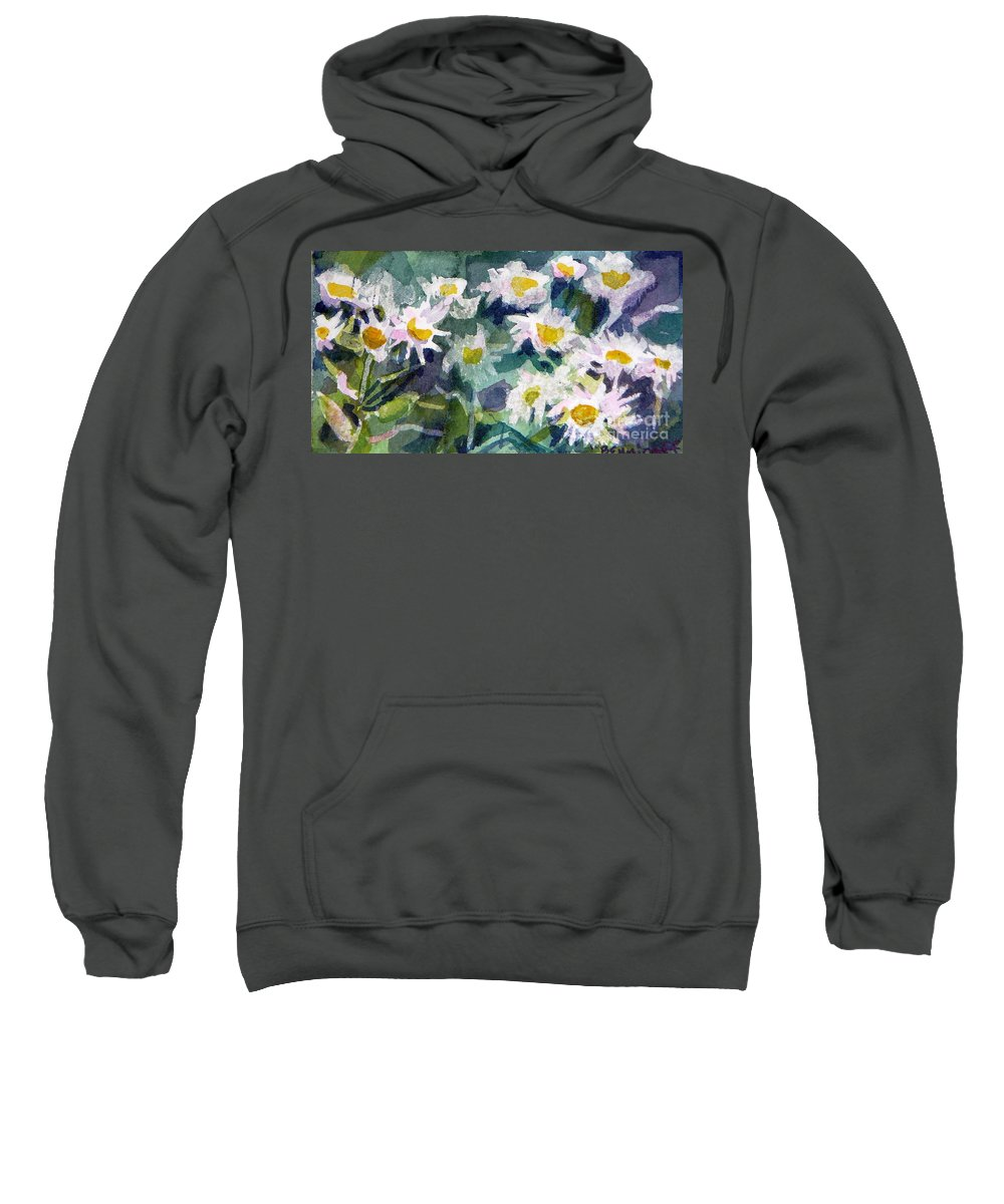 Flowers Sweatshirt featuring the painting Little Asters by Jan Bennicoff