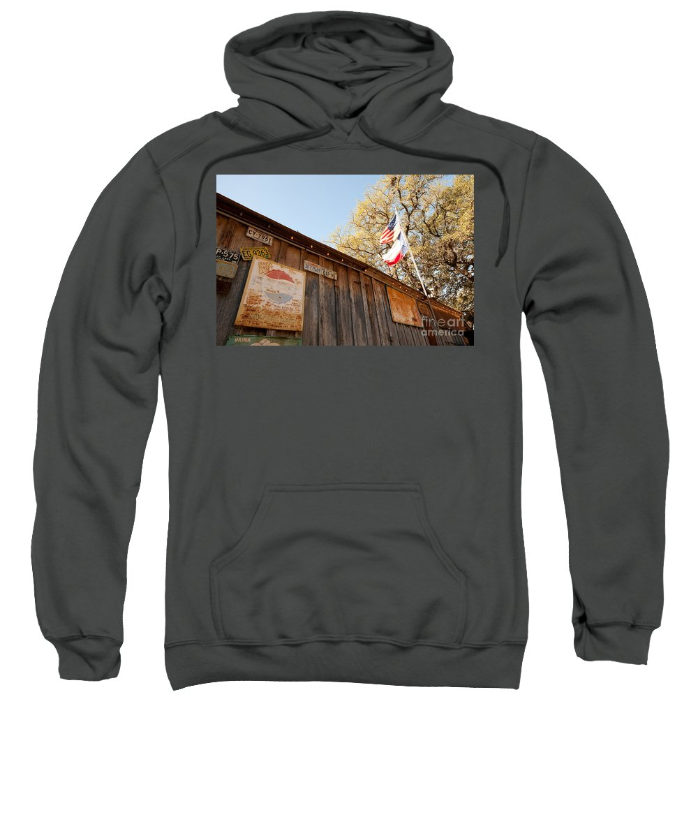 Luckenbach Sweatshirt featuring the photograph Luckenbach Tx by Tommy Anderson