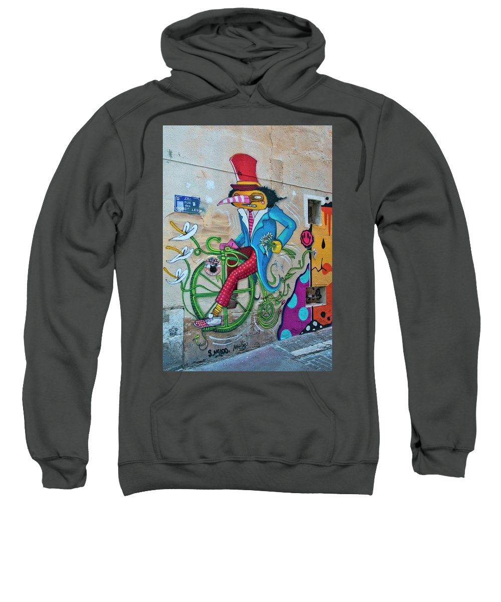 Marseille Street Art Sweatshirt featuring the photograph Marseille Street Art, Le Panier And Le Cours Julien by Curt Rush