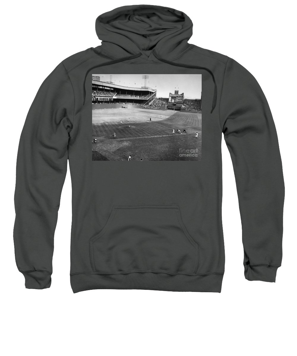 1957 Sweatshirt featuring the photograph New York: Polo Grounds by Granger
