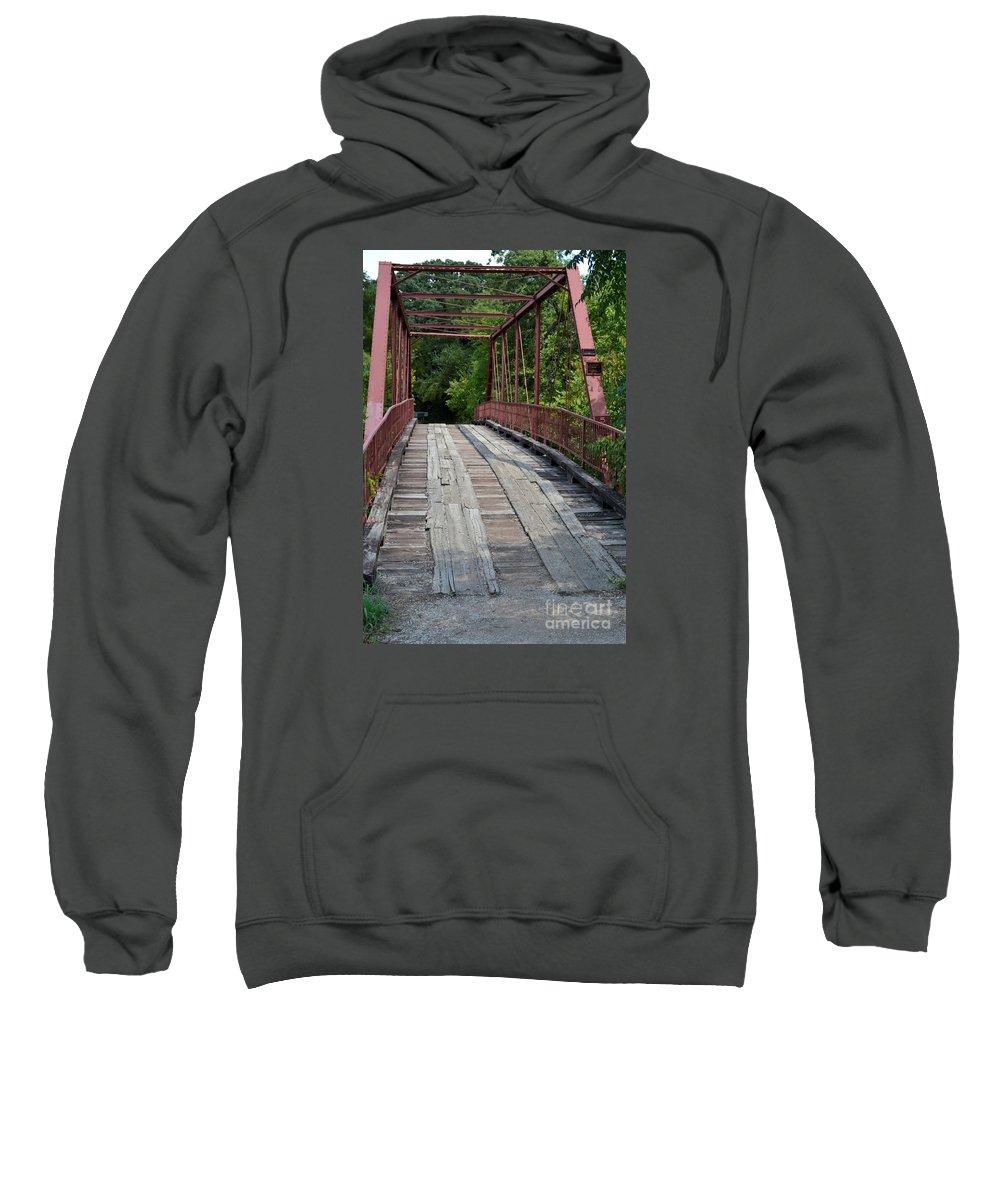 Old Alton Bridge Prints Sweatshirt featuring the photograph Old Alton Bridge by Ruth Housley