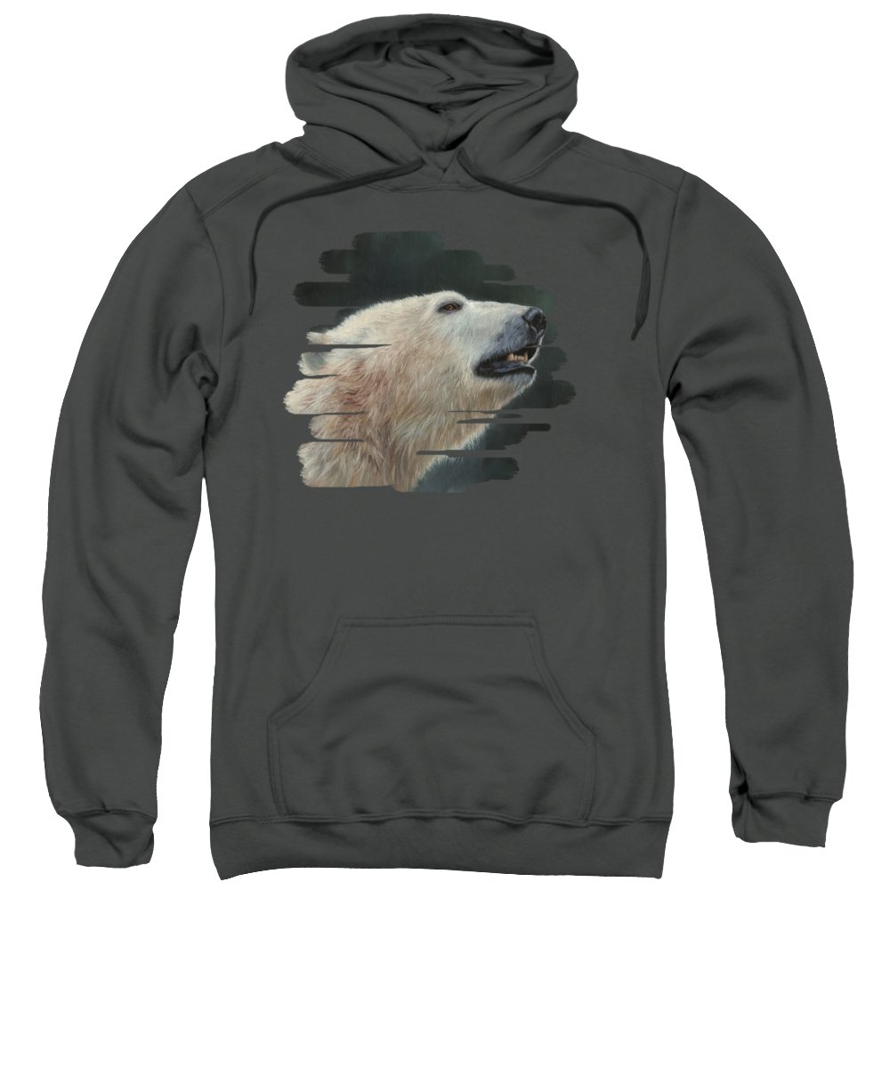 Polar Bear Sweatshirt featuring the painting Polar Bear by David Stribbling