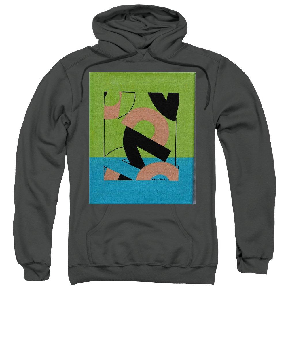 Modern Sweatshirt featuring the painting 2 by Shamira Nicolas