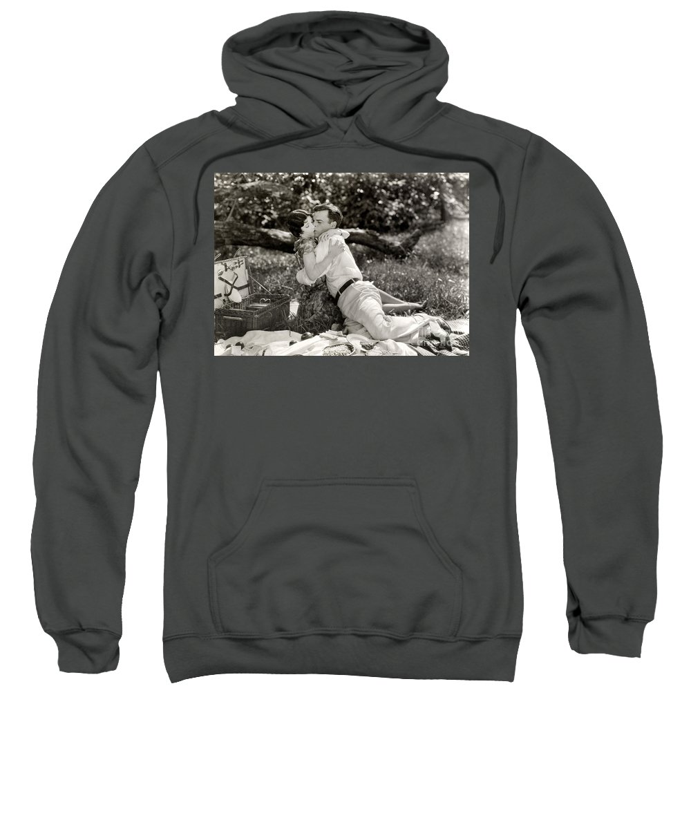 -picnic- Sweatshirt featuring the photograph Silent Film Still: Picnic by Granger