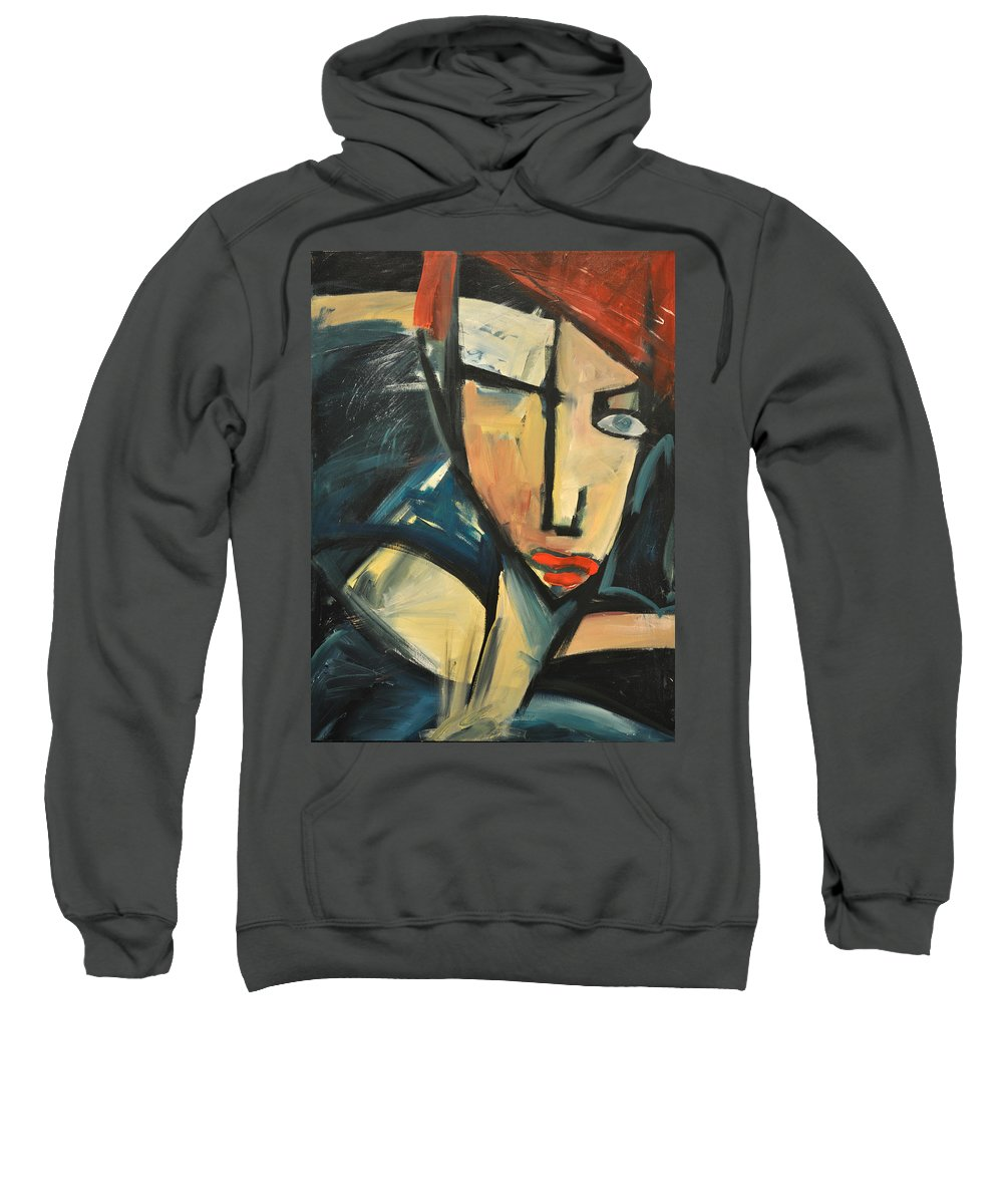 Woman Sweatshirt featuring the painting Simone by Tim Nyberg