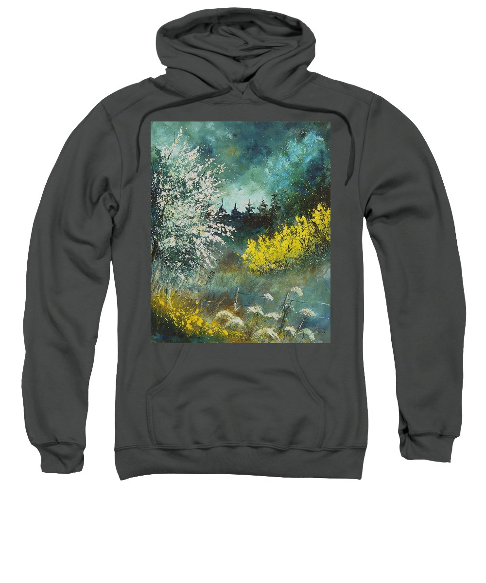 Spring Sweatshirt featuring the painting Spring by Pol Ledent