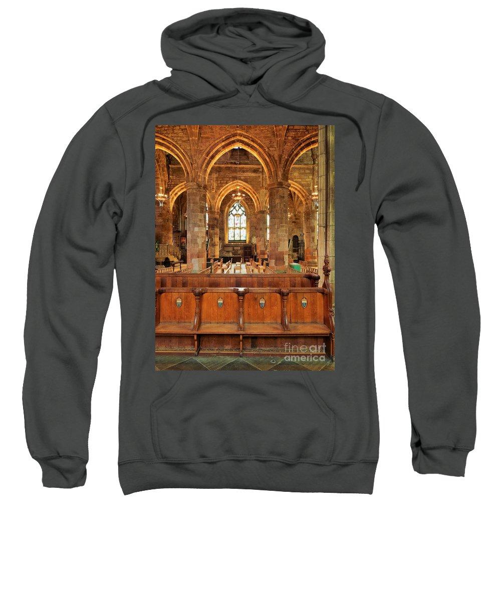 Europe Sweatshirt featuring the photograph St Giles' Cathedral, Edinburgh by Karol Kozlowski