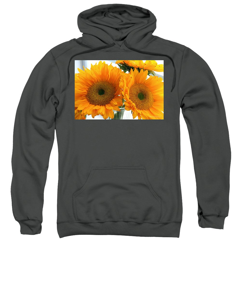 Sunflowers Sweatshirt featuring the photograph Sunflowers by Todd Blanchard