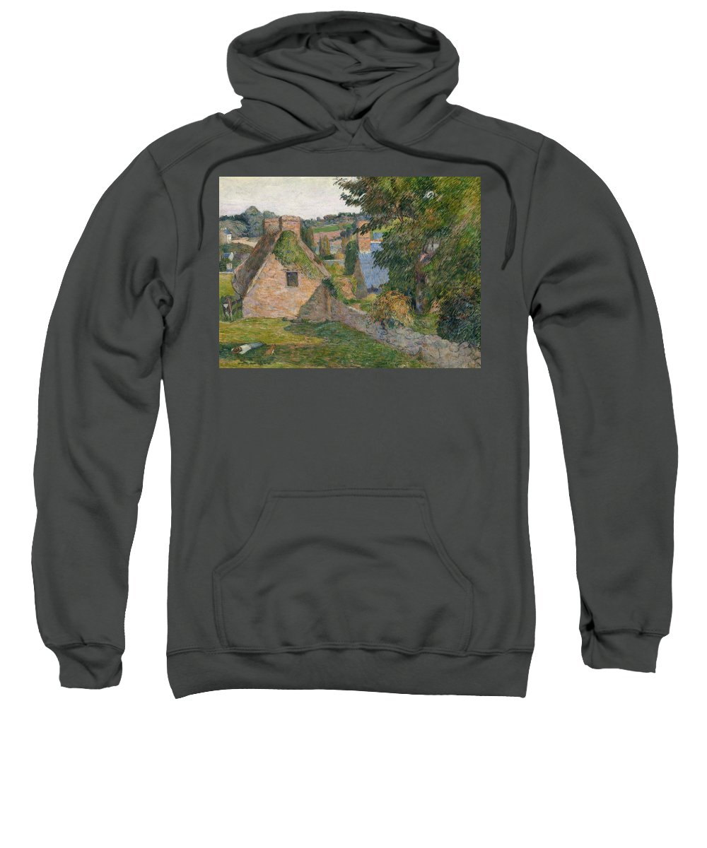 Gauguin Sweatshirt featuring the painting The Field Of Derout-lollichon by Paul Gauguin