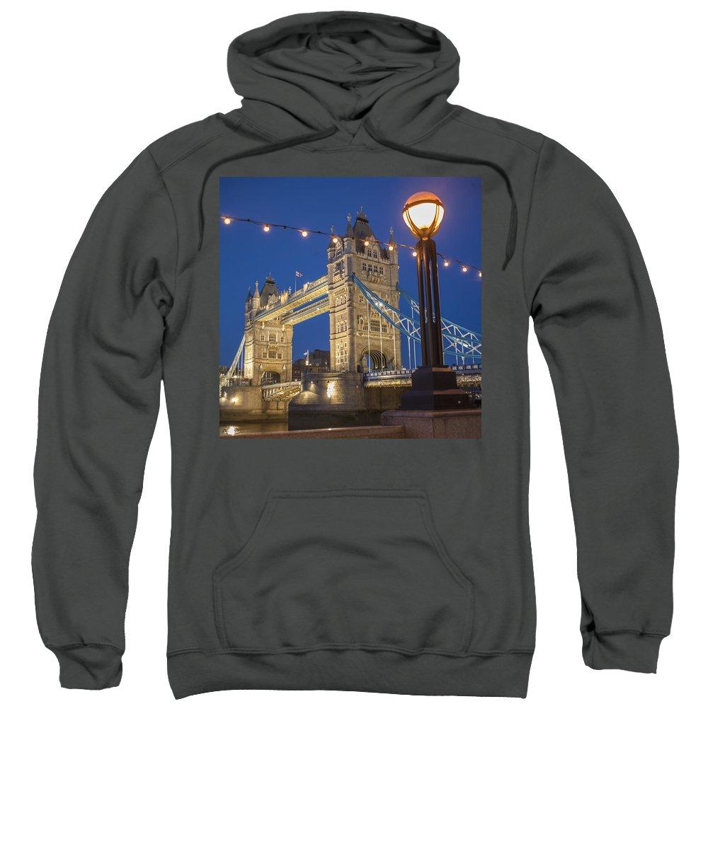 Architecture Sweatshirt featuring the photograph Tower Bridge by Richard Nowitz