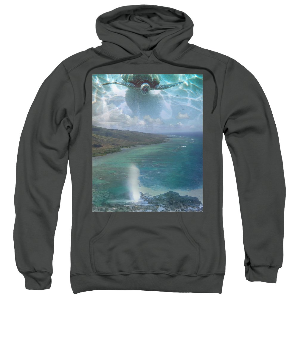 Turtle Sweatshirt featuring the photograph Turtle Vision by Angie Hamlin