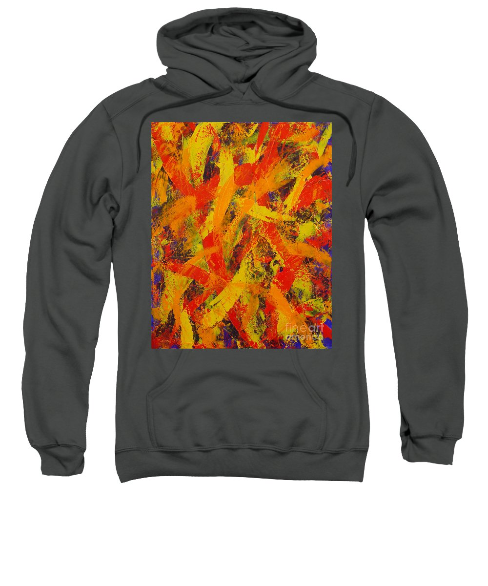 Abstract Sweatshirt featuring the painting Untitled by Dean Triolo