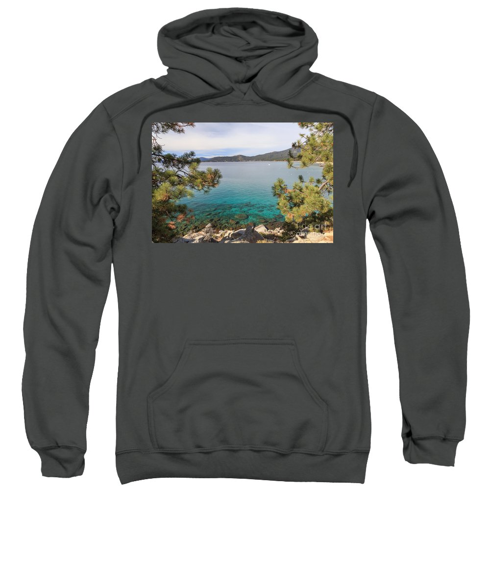 2014 Sweatshirt featuring the photograph View Across Lake Tahoe by Jannis Werner